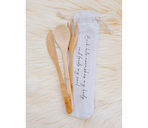 Moon Phase Bamboo Cutlery at Goddess Provisions