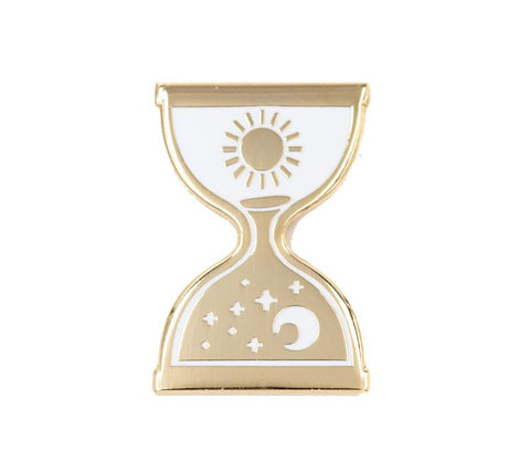 Hourglass Enamel Pin at Goddess Provisions