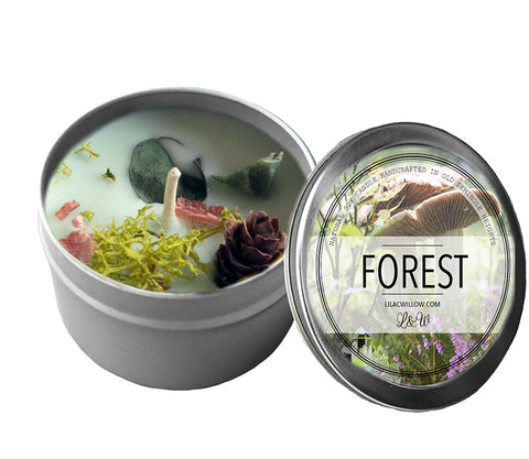 Forest  Soy Candle with Pine, cedar, vanilla at Goddess Provisions