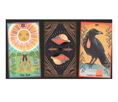 The Gentle Tarot is an indigenous-made, hand-drawn tarot deck filled with imagery influenced by life in remote Alaska, available at Goddess Provisions!