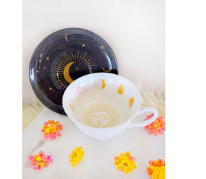 Moon Teacup & Moon Spoon By Goddess Provisions