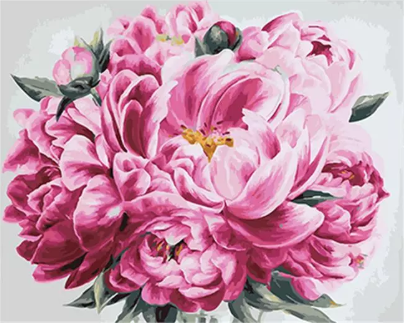 "DIY Painting By Numbers -Pink Flower (16""x20"" / 40x50cm)"