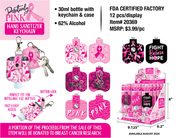 ITEM NUMBER 020369 PINK HAND SANITIZER KC 12 PIECES PER DISPLAY