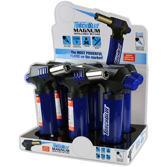 ITEM NUMBER 020409 TORCH BLUE MAGNUM 6 PIECES PER DISPLAY