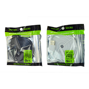 ITEM NUMBER 020616 GG BAG 9FT FLAT MICROCABLE 4 PIECES PER PACK