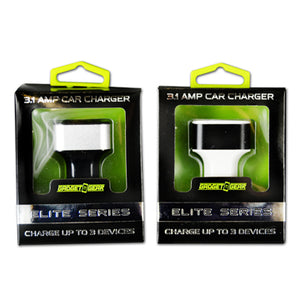ITEM NUMBER 020761 GG ELITE 3.1A 3 SLOT CARCHARGER 2 PIECES PER PACK