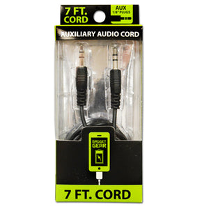 ITEM NUMBER 021070 GG 7FT AUX CABLE 3 PIECES PER PACK