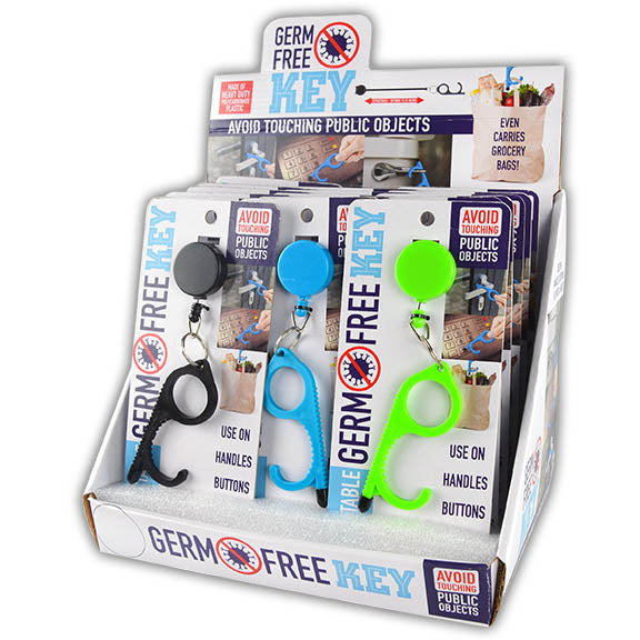 ITEM NUMBER 021696 GERM FREE KEY 18 PIECES PER DISPLAY