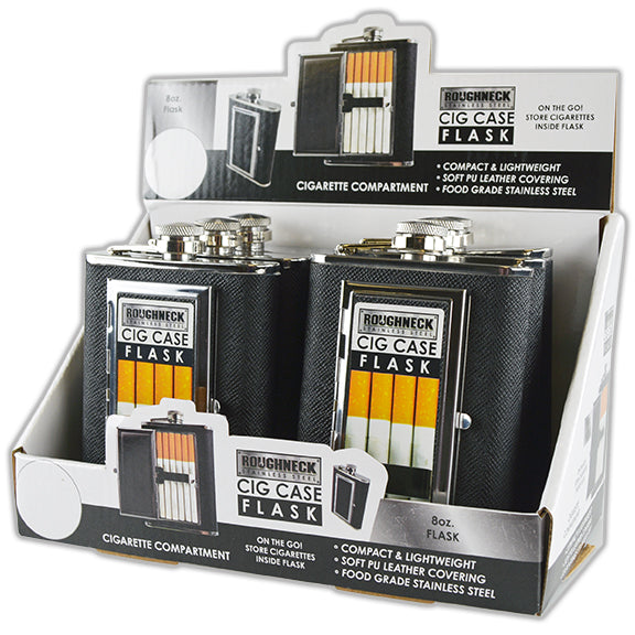 ITEM NUMBER 021768 FLASK CIGARETTE CASE 6 PIECES PER DISPLAY