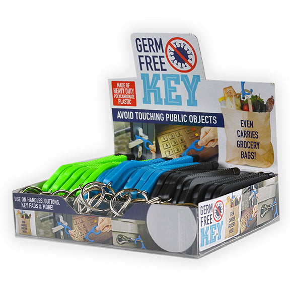 ITEM NUMBER 021875 PLASTIC GERM FREE KEY 24 PIECES PER DISPLAY