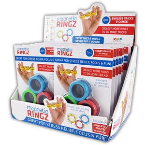 ITEM NUMBER 021919 MAGNETIC MAGIC RINGS 12 PIECES PER DISPLAY