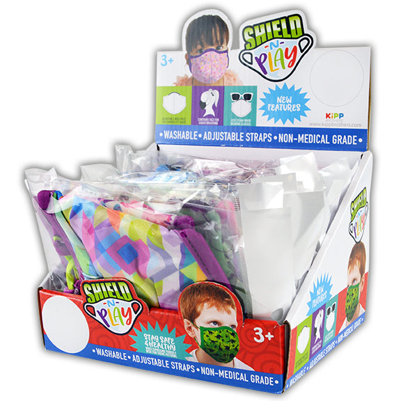ITEM NUMBER 021941 KIDS CONTOUR FACE COVER 24 PIECES PER DISPLAY