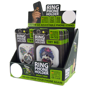 ITEM NUMBER 021967 PHONE RING ACRYLIC MIX B 12 PIECES PER DISPLAY