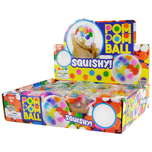ITEM NUMBER 022054 POM POM WATER BALL 12 PIECES PER DISPLAY