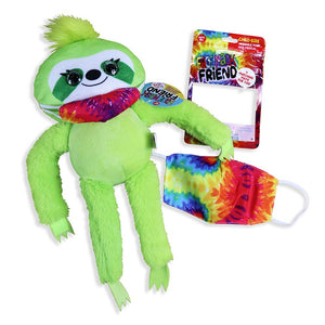 ITEM NUMBER 022055 PLUSH LONG ARM SLOTH W/MASK 12 PIECES PER DISPLAY