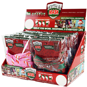 ITEM NUMBER 022111 CHRISTMAS TUBE FACE COVER 12 PIECES PER DISPLAY