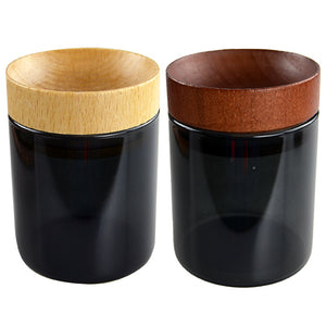 ITEM NUMBER 022281 WOOD CONCAVE JAR 6 PIECES PER DISPLAY