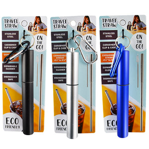 ITEM NUMBER 022285 STAINLESS STRAW 12 PIECES PER DISPLAY