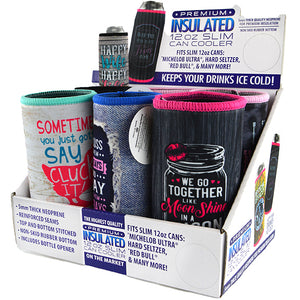 ITEM NUMBER 022471 SLIM CAN COOLER 6 PIECES PER DISPLAY
