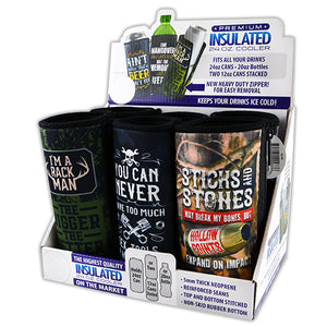 ITEM NUMBER 022477 24OZ CAN COOLER 6 PIECES PER DISPLAY