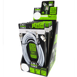ITEM NUMBER 023006 10FT 3 IN 1 CABLE 6 PIECES PER DISPLAY
