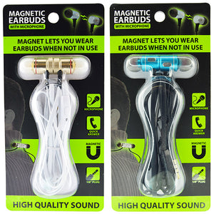 ITEM NUMBER 023800 MAGNETIC EARBUDS 6 PIECES PER DISPLAY