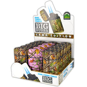 ITEM NUMBER 023925 CAMO BIG BUBBA LIGHTER 15 PIECES PER DISPLAY