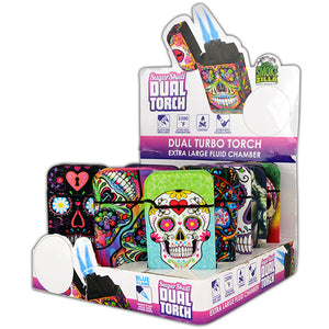 ITEM NUMBER 025184 SUGAR SKULL DUAL TORCH 15 PIECES PER DISPLAY