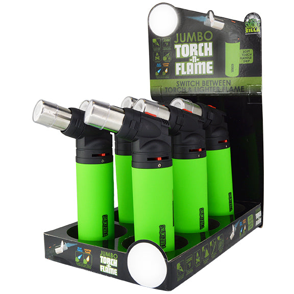 ITEM NUMBER 025619 JUMBO TORCH 2 FLAME 6 PIECES PER DISPLAY