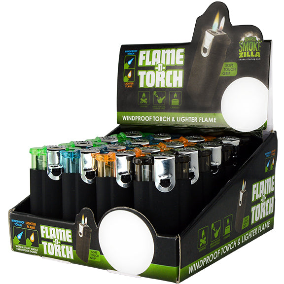 ITEM NUMBER 025637 FLAME N TORCH LIGHTER A 16 PIECES PER DISPLAY