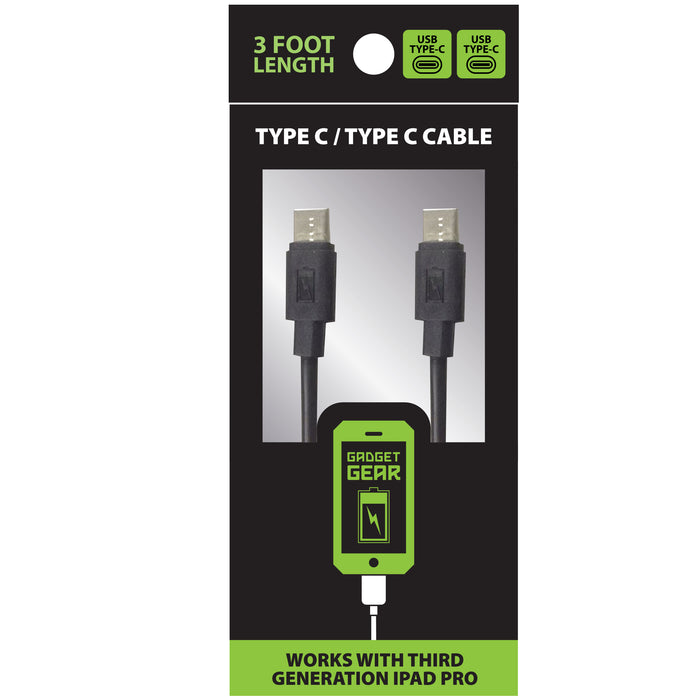 ITEM NUMBER 025730 GG TYPE C TO TYPE C CHARGE CABLE 4 PIECES PER PACK