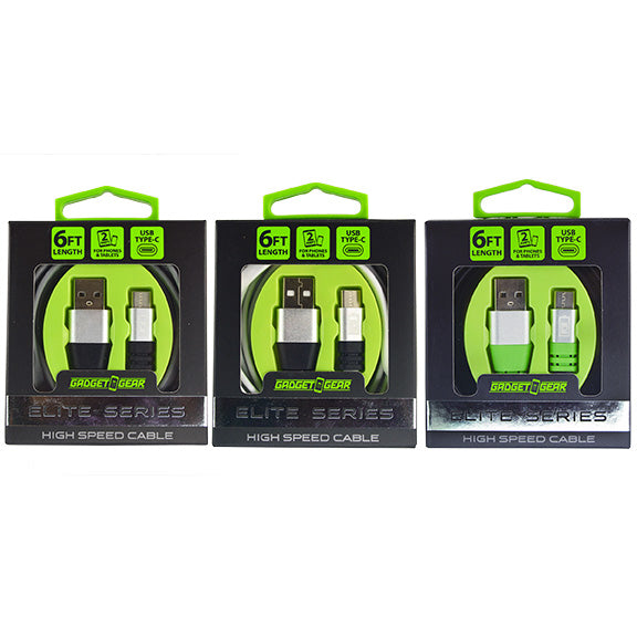 ITEM NUMBER 025977 GG ELITE 6FT TYPE C CABLE 3 PIECES PER PACK