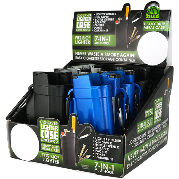 ITEM NUMBER 026028 CIG SAVER LIGHTER CASE WITH TOOLS 12 PIECES PER DISPLAY