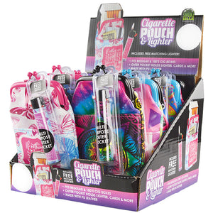 ITEM NUMBER 026036 CIG POUCH LIGHTER MIX B 12 PIECES PER DISPLAY