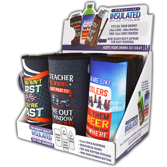 ITEM NUMBER 026588 HIGHWAY 24OZ CAN COOLER 6 PIECES PER DISPLAY