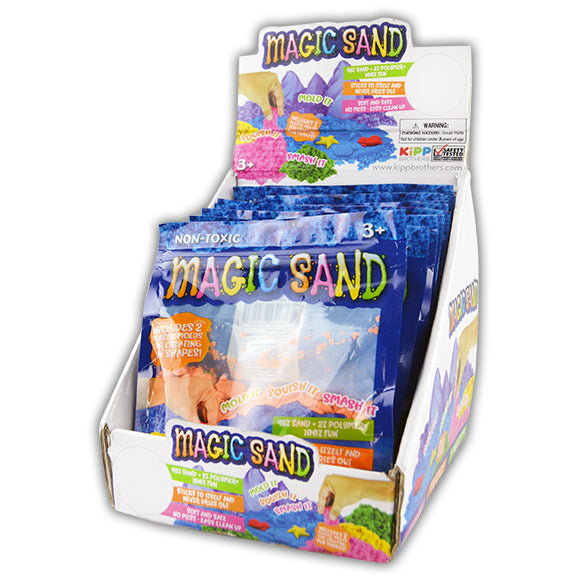 ITEM NUMBER 027927 MAGIC SAND ZIP BAG 12 PIECES PER DISPLAY