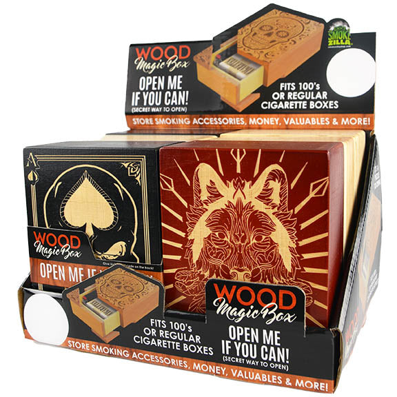 ITEM NUMBER 028261 MAGIC WOODEN BOX 6 PIECES PER DISPLAY