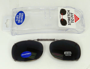 ITEM NUMBER 028971 CLIP ON SUNGLASSES 2 PIECES PER PACK