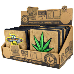 ITEM NUMBER 030001 HEMP CIG CASE MIX X 8 PIECES PER DISPLAY