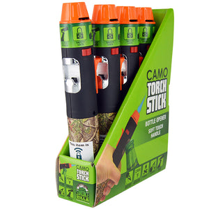 ITEM NUMBER 040304 CAMO TORCH STICK 4 PIECES PER DISPLAY