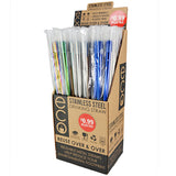 ITEM NUMBER 040345 METAL STRAW 50 PIECES PER DISPLAY