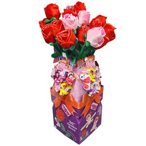 ITEM NUMBER 088180 VALENTINES DAY JUMBO ROSE AND SLAP BABY HAPPY FLOOR DISPLAY 44 PIECES PER DISPLAY