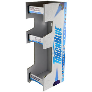 ITEM NUMBER 973040 - THREE TIER TORCH BLUE LIGHTER DISPLAY