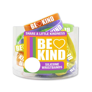 ITEM NUMBER KP4171 BE KIND SILICONE WRISTBAND  24 PIECES PER DISPLAY