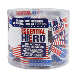 ITEM NUMBER KP4172 ESSENTIAL HERO SILICONE WRISTBAND 24 PIECES PER DISPLAY