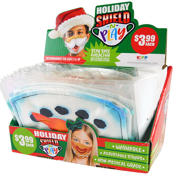 ITEM NUMBER KP4181 CHILD POLYESTER MASK CHRISTMAS 24 PIECES PER DISPLAY