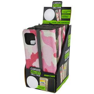 ITEM NUMBER 022122 CANVAS WALLET CELL CASE 6 PIECES PER DISPLAY