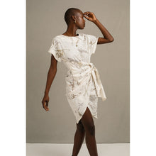 Load image into Gallery viewer, Blombos Eco Print Wrap Dress