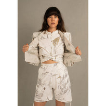 Load image into Gallery viewer, Blombos Eco Print High Waisted Bermuda Shorts