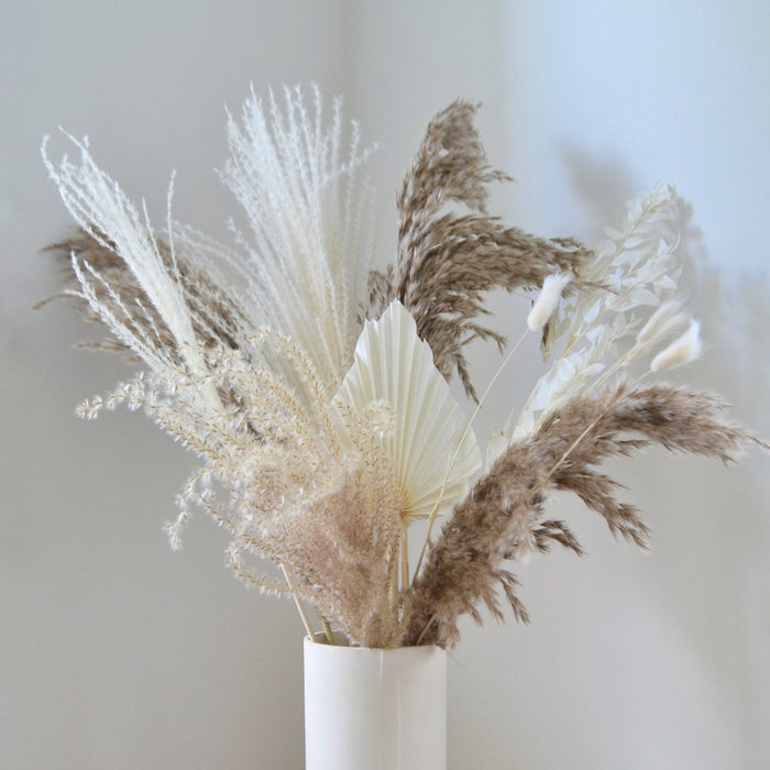 Brown & White Dried Flower Bunch